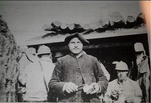Louis Jeanpierre, frère d'Edouard, durant le conflit. Éclusier à Plancher-Bas après la guerre, il mourra des suites des gazs inhalés durant la guerre.