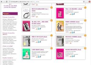 Collection e-ros : les meilleures ventes de mars