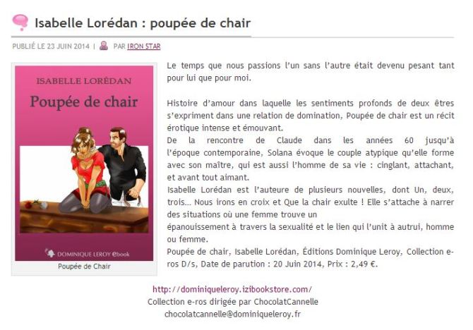 poupée de chair blog union
