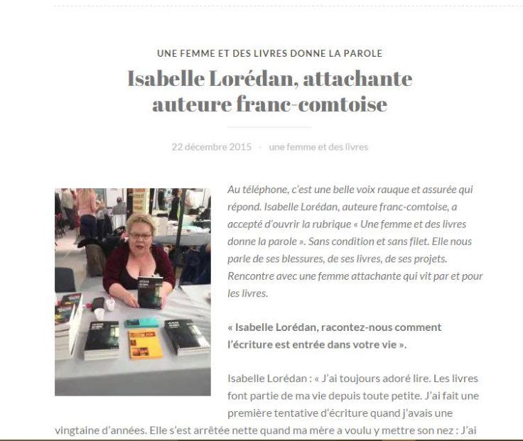 Interview une femme et des livres