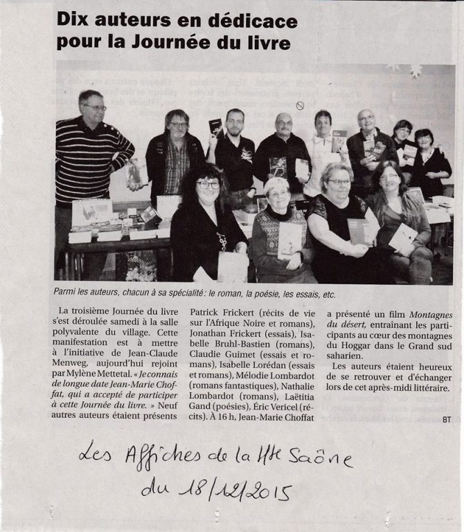Journée du livre 2015 - Les Affiches de la Hte Saône